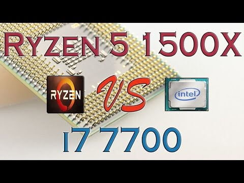 RYZEN 5 1500X vs i7 7700 - BENCHMARKS / GAMING TESTS REVIEW AND COMPARISON / Ryzen vs Kaby Lake