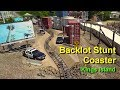 Backlot Stunt Coaster Front Seat On Ride POV Kings Island