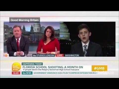 Parkland Survivor - Kyle Kashuv debates with Piers Morgan