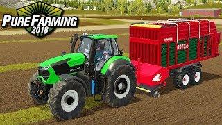 Zbieranie trawy - Pure Farming 2018 | #45