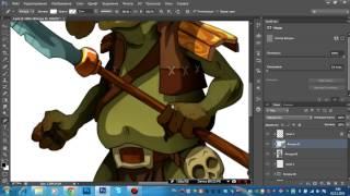 Видео урок рисование персонажа в photoshop cs6 вектор 5 часть