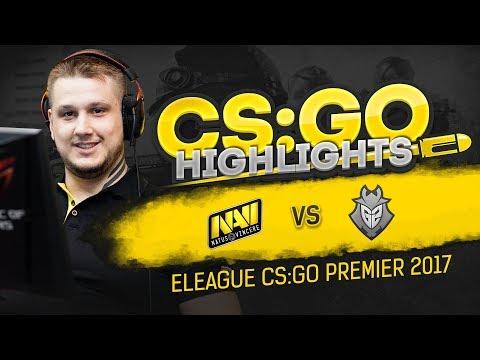 CSGO Highlights: NAVI vs G2 @ ELEAGUE CS:GO Premier 2017