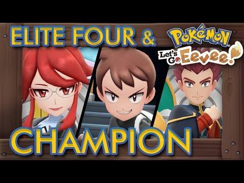 Pokémon Let's Go Pikachu & Eevee - Elite Four & Champion Battle