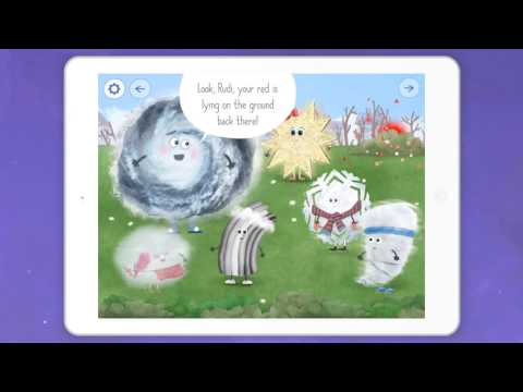 ☀️🌧 Rudi Rainbow and the lost colors 🌈 Weather learning App for kids (Gameplay)
