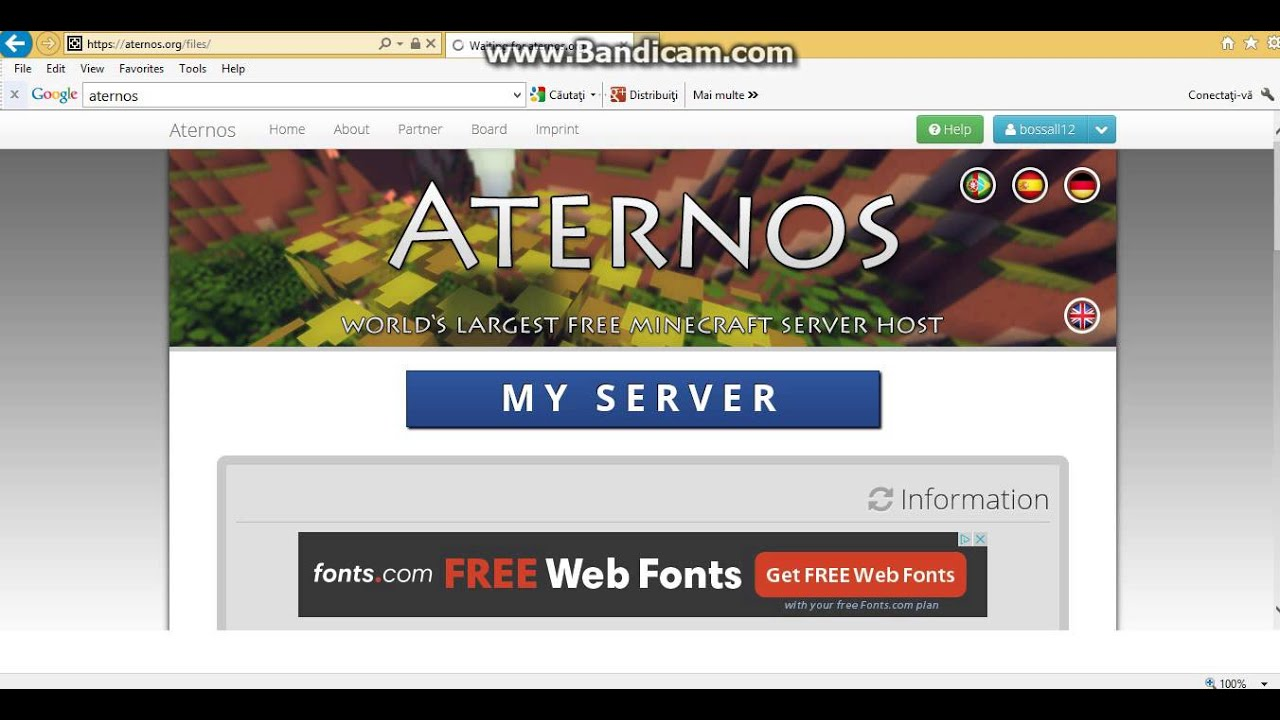 Aternos creare server minecraft free 100% - YouTube