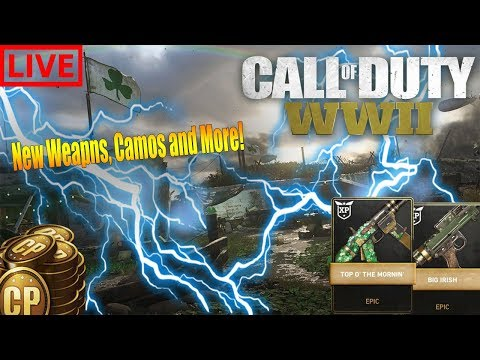 *NEW UPDATE *NEW Irish Update. Getting The New Weapons! Opening Supply Drops!(CoD WWII)