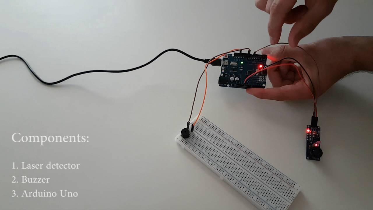 Arduino laser sensor detector funnydog tv