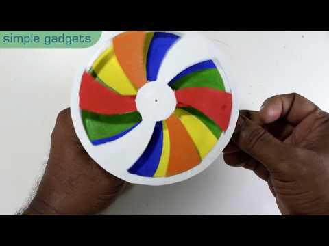 HOW TO MAKE A SPINNING WHEEL  | DIY