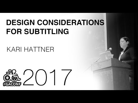 Design considerations and best practices for subtitling your game (Kari Hattner, Hangar 13 Games)