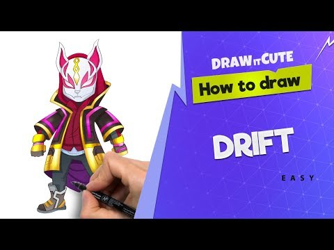 How To Draw Drift From Fortnite Battle Royal Art Tutorial Step By