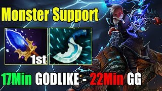 [Disruptor] WTF Support 17Min GODLIKE - 22Min Call GG With First Item Scepter (FullGame Dota2 7.22H)