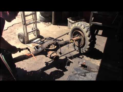 "crown vic axle upgrade for demolition derby project ""burn barrel """