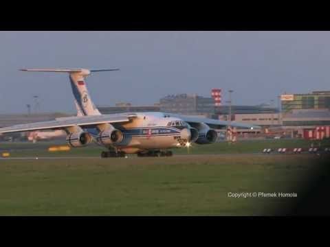 Il76, land in Prague, PRG/LKPR, 25.4.2013