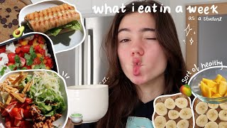 what i eat in a week as a student (realistic) 🍵🥭