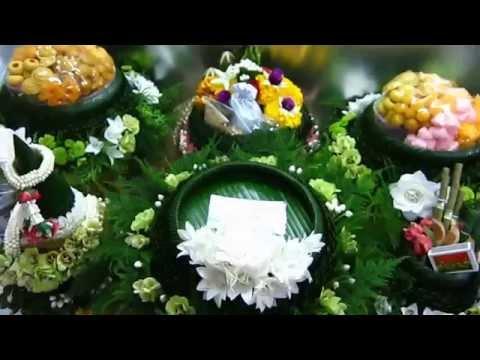 ขันหมาก ร้านดอกไม้ควีนฟลาวเวอร์ ตลาดศาลายา 083 2290386