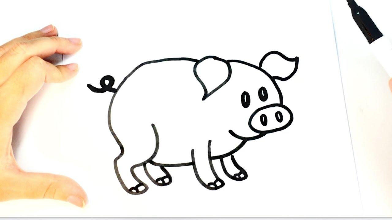 Cómo Dibujar Un Cerdito Para Niños Paso A Paso Youtube
