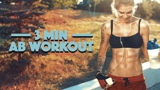 3 Minute Ab Workout (GET FLAT ABS FAST!!)