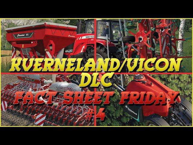Kverneland & Vicon DLC: Fact Sheet Friday #4 | Farming Simulator 19