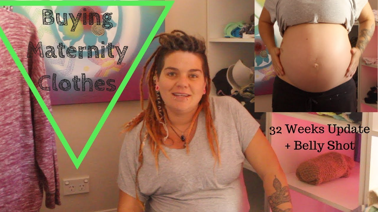 467b02c7b16f5 32 Weeks Pregnancy Update and Belly Shot || BUYING MATERNITY CLOTHING FROM  KMART || 2018