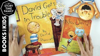 Gambar cover David Gets in Trouble & No, David!   A Series of Books About Being A Kid