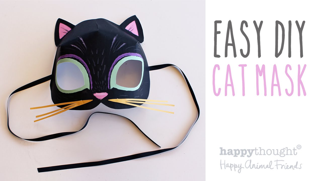 Printable cat mask template + photo tutorial! - YouTube
