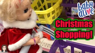 Baby Alive Emma's Secret Santa Mission: Christmas Shopping | Kelli Maple