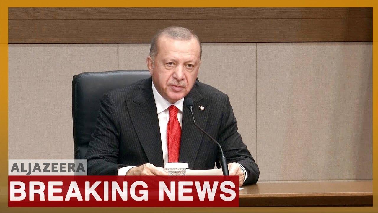Turkish president Erdogan addresses Turkey's Syria offensive