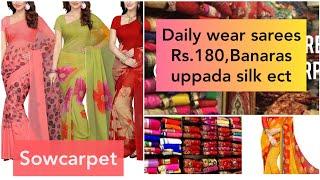 Daily wear Saree From Rs.180/ Banaras, uppada Silk saree collection with price
