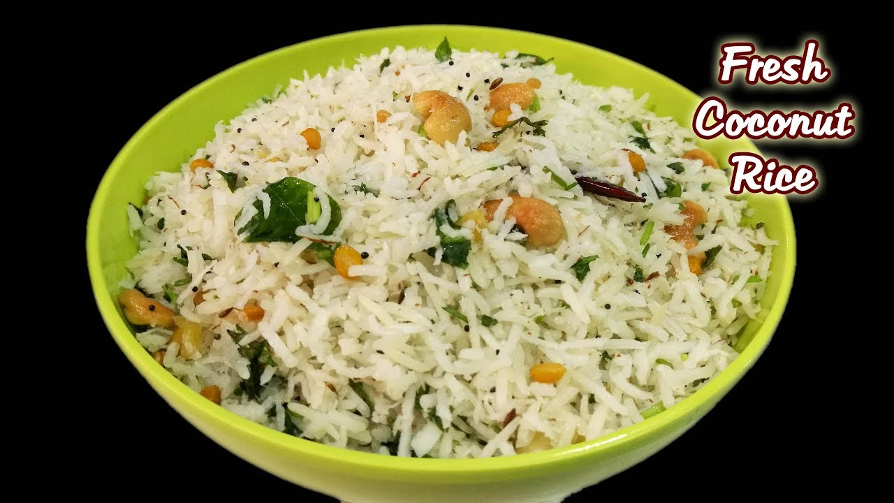 Fresh Coconut Rice || Coconut rice recipe