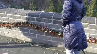 Jenny Explains Love Lock Tradition on the Great Wall of China -- Yujong Pass