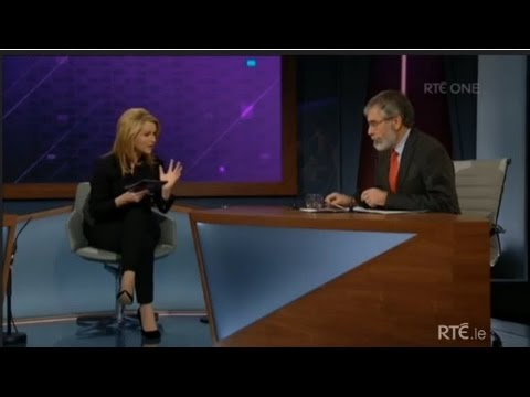 Claire Byrne Live - Gerry Adams and Joan Burton debate.