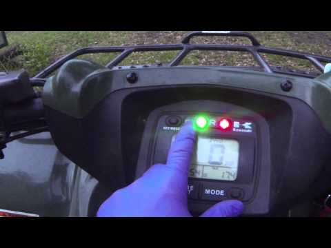 Kawasaki Brute Force 650/750 belt light reset How To Tutorial
