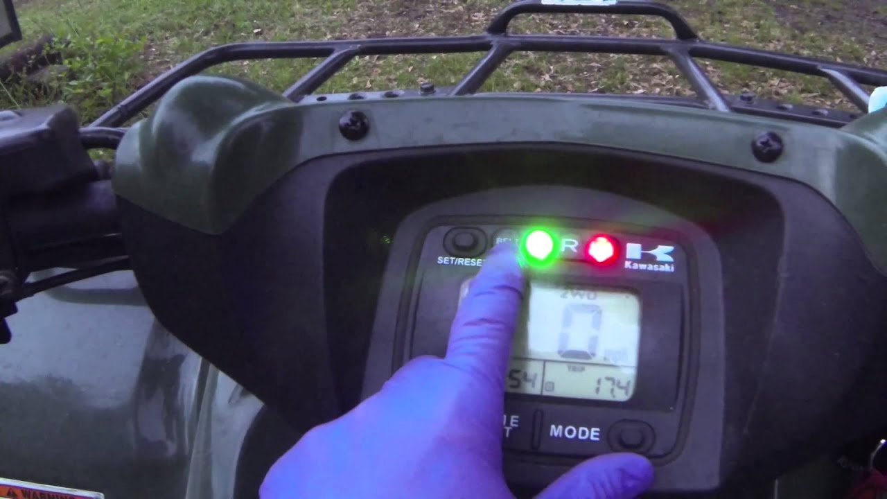 small resolution of kawasaki brute force 650 750 belt light reset how to tutorial