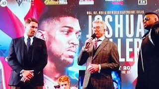 Big Baby Miller shove Anthony Joshua at press conference