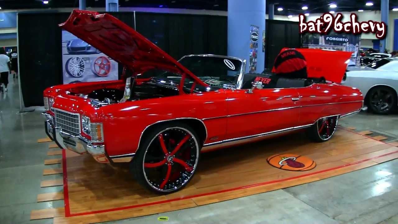 "1969 Chevrolet Camaro Convertible For Sale RED 71 Impala Donk Vert on 26"" Forgiatos, L92 421 Stroker ..."