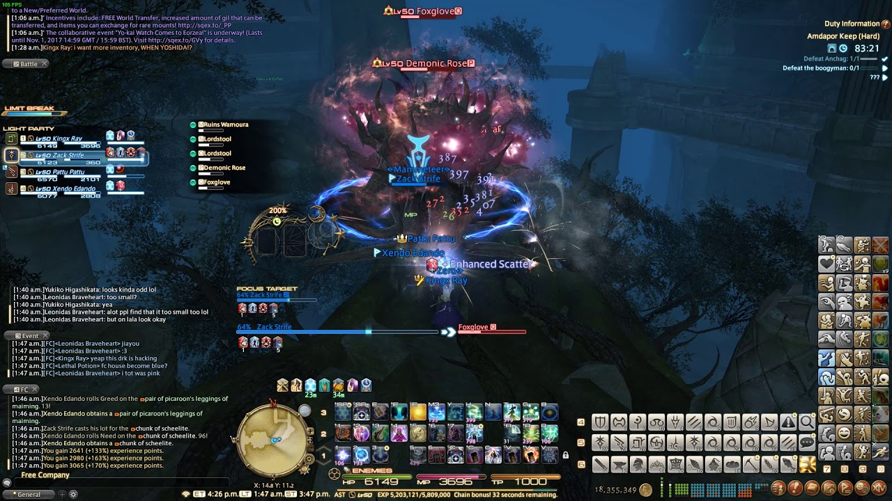 [FFXIV] Dark Knight Teleport Hacking in Dungeon
