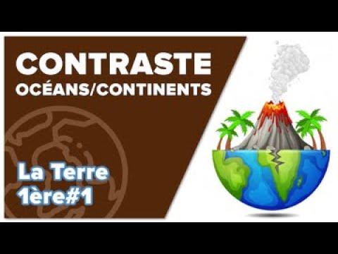 Contraste Océans/Continents - SVT - TERRE 1ère #1 - Mathrix