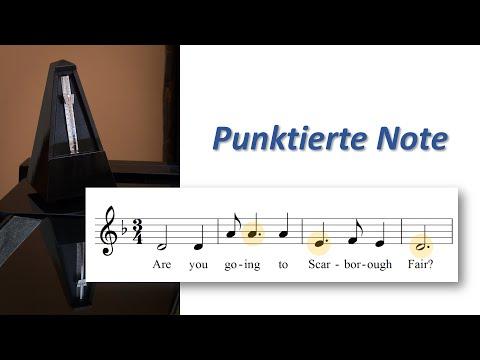 Punktierte Note – endlich anschaulich erklärt – Punktierte Noten spielen und zählen lernen