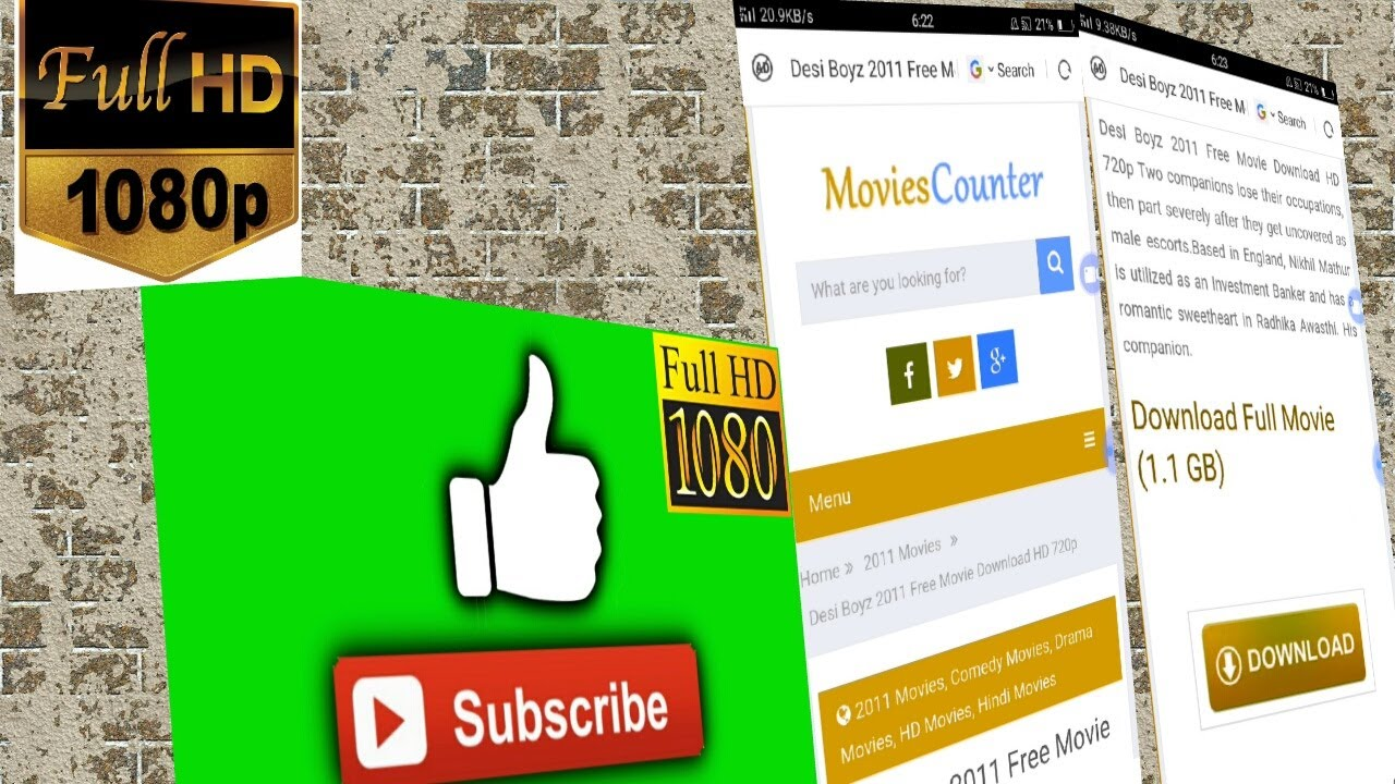 how to download 1080p movies from movies counter - youtube