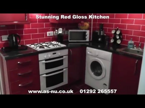 Red Gloss Kitchens - Red Kitchen Ideas , Call 01292 265557