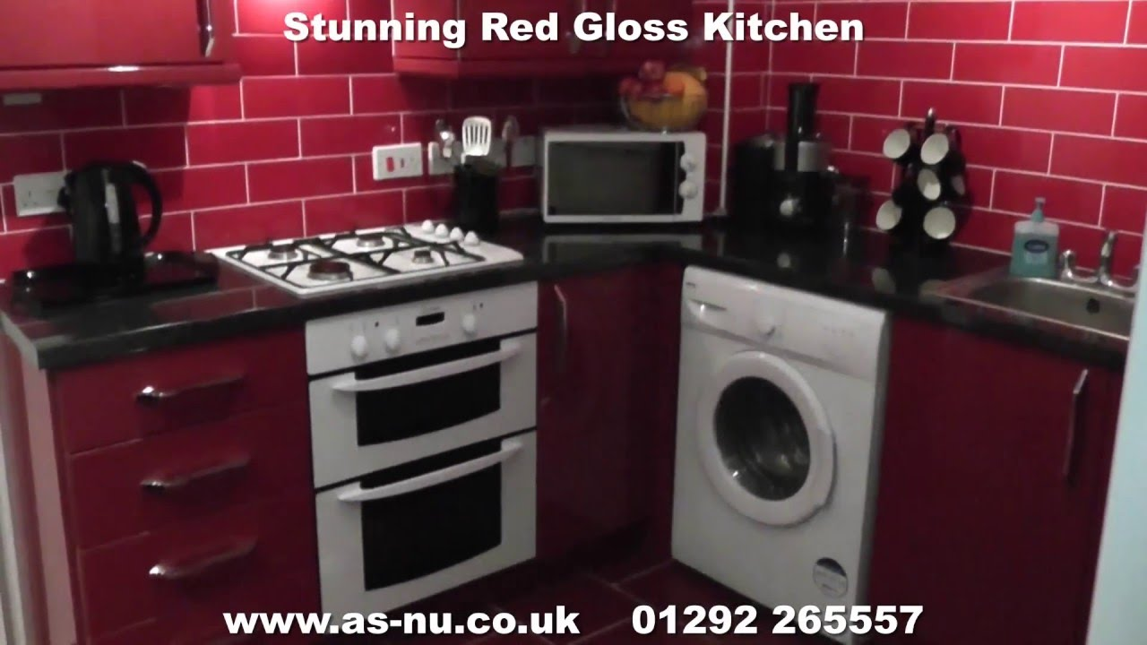 Red Gloss Kitchens Kitchen Ideas Call 01292 265557