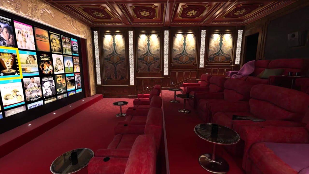 Cedia Home Theater Virtual Tour  Luxury Screening Room