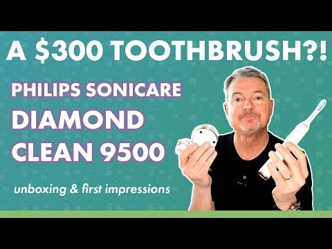 A $300 toothbrush?! Philips Sonicare DiamondClean 9500 Unboxing & First Impressions
