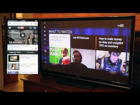 Panasonic TC-P55UT50 Plasma Review iPhone YouTube App