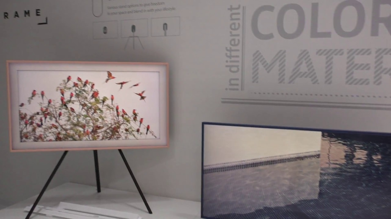 the frame samsung 4k lifestyle tv bilderrahmen in. Black Bedroom Furniture Sets. Home Design Ideas