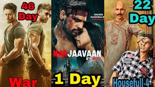 War 46th Day Box Office Collection, Marjaavaan 1st Day Box Office Collection, Good News, Houseful 4