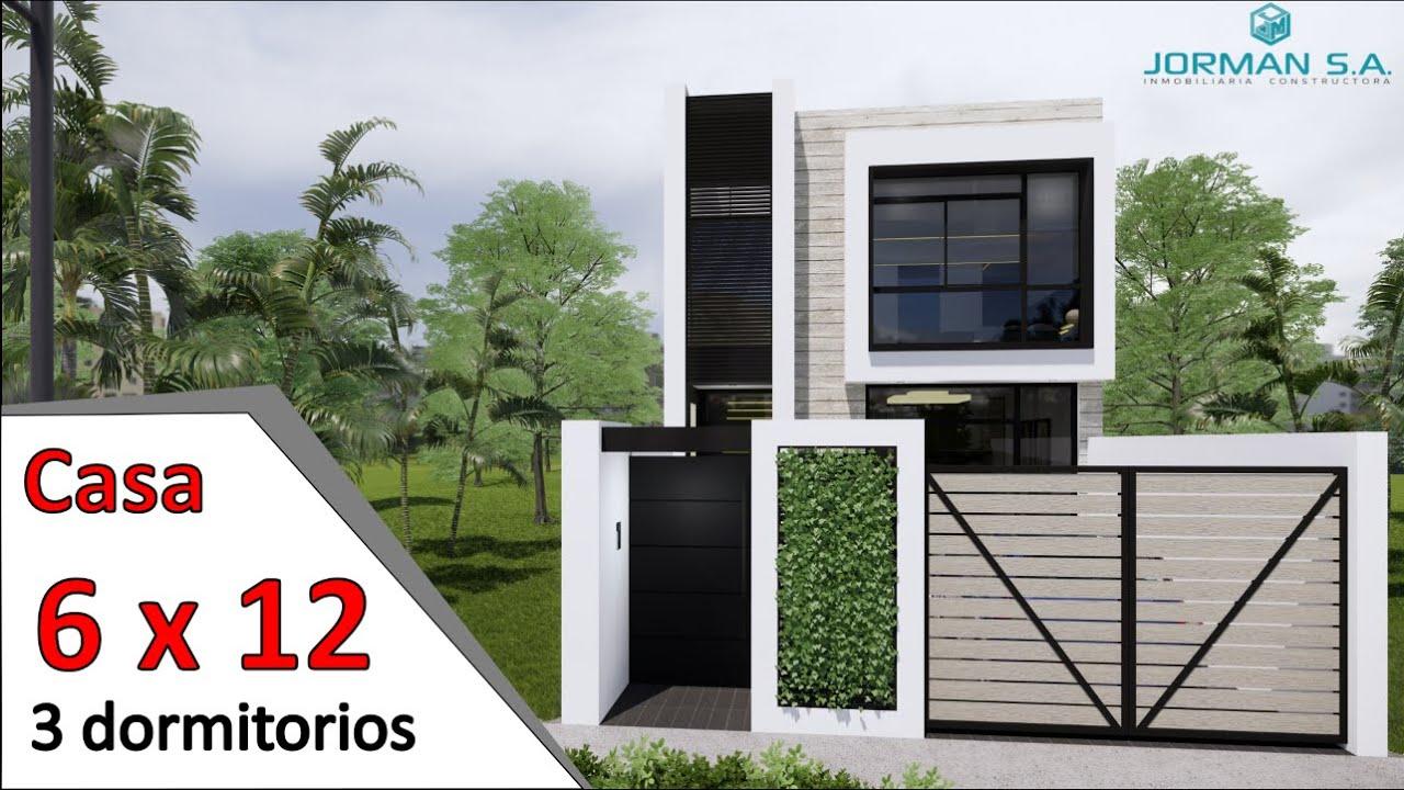 modelo de casas de 2 pisos (Casa 6x12 metros) Home Design Plan