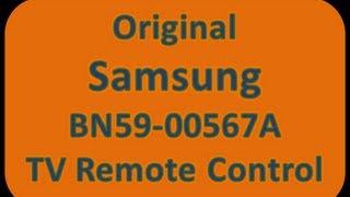 Original Samsung BN59-00567A TV Remote Control (BN5900567A) - ElectronicAdventure.com