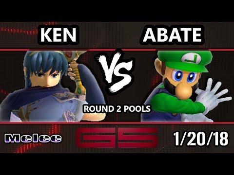 GENESIS 5 SSBM - Liquid'Ken (Marth) VS Abate (Luigi) - Smash Melee Singles