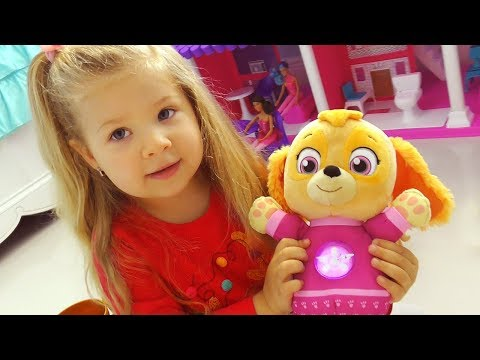 VLOG Мои ИГРУШКИ My Toys: Sky, Barbie doll house, Pikmi Pops surprise Video for kids and toddlers